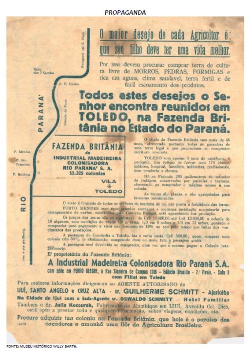 Propaganda da Colonizadora Maripá