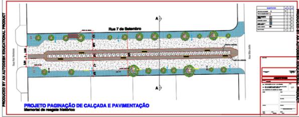 Projeto revitalização rua 7 de setembro, Toledo - 2016
