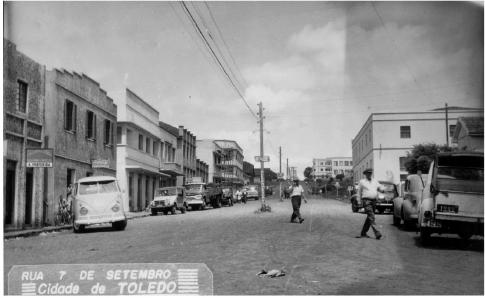 Vista parcial da rua 7 de setembro - 1962