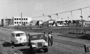 Praça Willy Barth, ao lado da Rua 7 de setembro - 1962