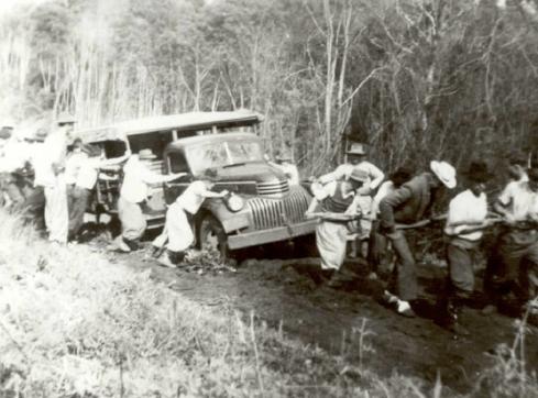 Caravana de compradores de terras - 1950